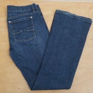 White House Black Market Flare leg jeans, size 8R